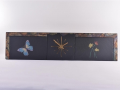 butterfly-and-flowers-on-slate-clock