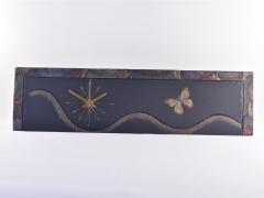 Butterfly theme on slate clock