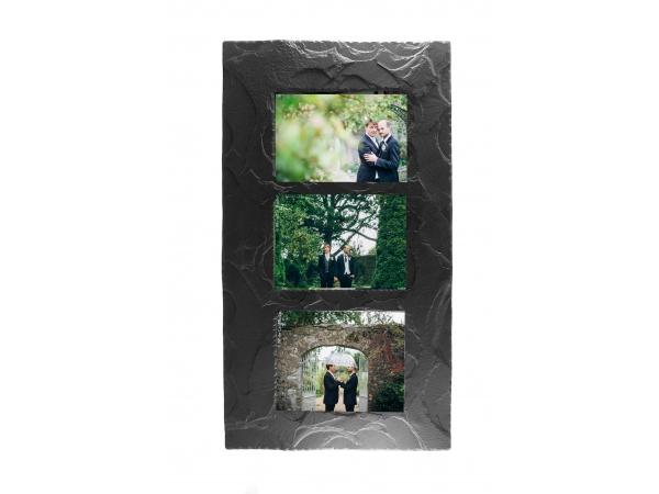 """Slate Triple Photo Frame 7""""x5"""" Landscape in Portrait"""