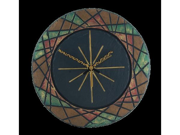 """Slate Round Clock 7½"""" Deluxe"""