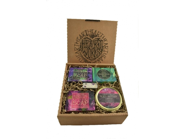 """Bluebell Forest"" Body Butter, Lip Balm, Shampoo Bar and Soap Gift Set"