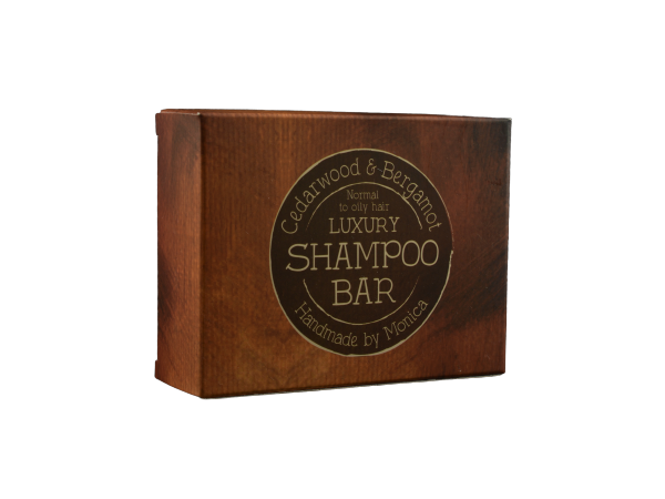Handmade Natural Shampoo Bar Cedarwood and Bergamot