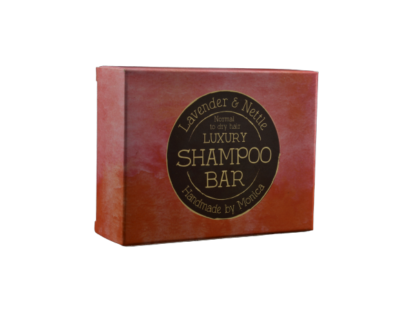 Handmade Natural Shampoo Bar with Lavender and Nettle