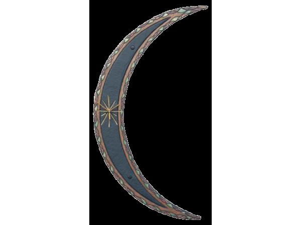Moon clock ornate