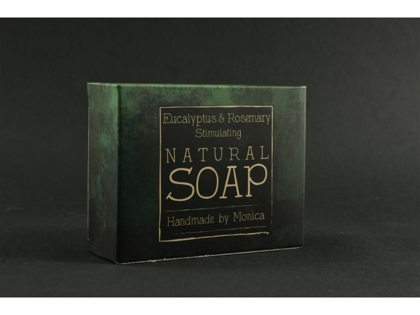 Natural Handmade Soap with Eucalyptus and Rosemary