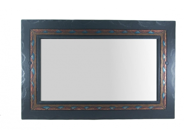 Overmantle Slate Mirror Celtic Border