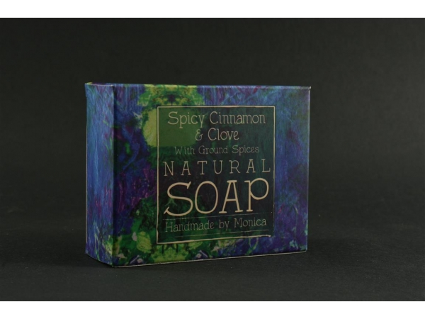 Palm Free Natural Handmade Soap 'Spicy Cinnamon & Clove with Ground Spices'