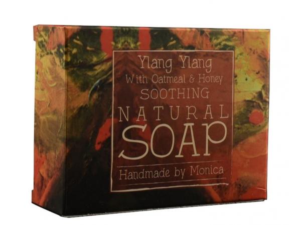 Palm Free Natural Handmade Soap 'Ylang Ylang, Honey & Oatmeal'