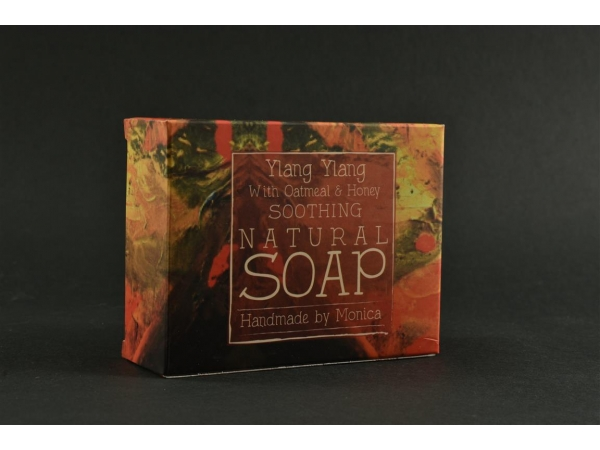 Palm Free Natural Handmade Soap 'Ylang Ylang, Honey & Oatmeal'
