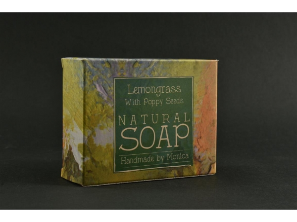 Palm Free Natural Handmade Soap 'Lemongrass with Poppy Seeds'