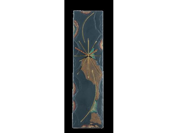 Slate Clock 18x5 Gold Edge