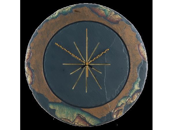 """Round Slate Clocks 11½"""""""