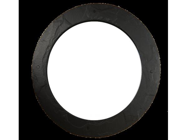Slate Round Mirror Black