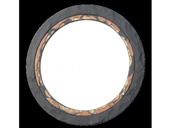 Slate Round Mirror Coloured