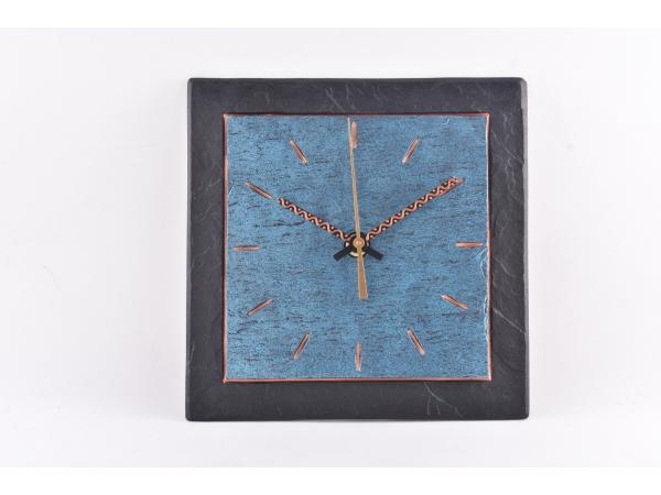 "Slate Clocks 7.5"" Blue Inside"