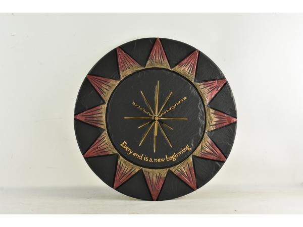 slate-sun-clock-wiht-personalised-note