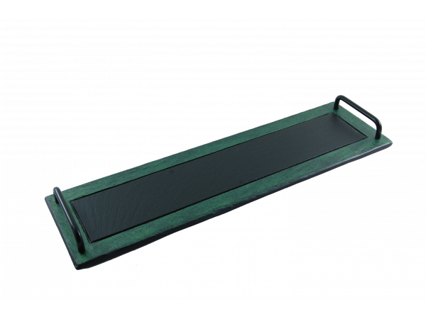 Slate Tray with green border