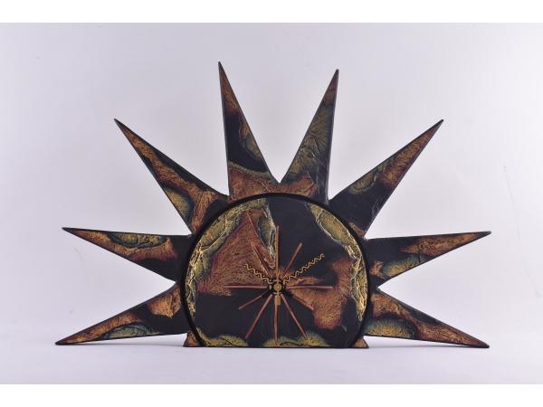Slate Free Standing Clock Sun