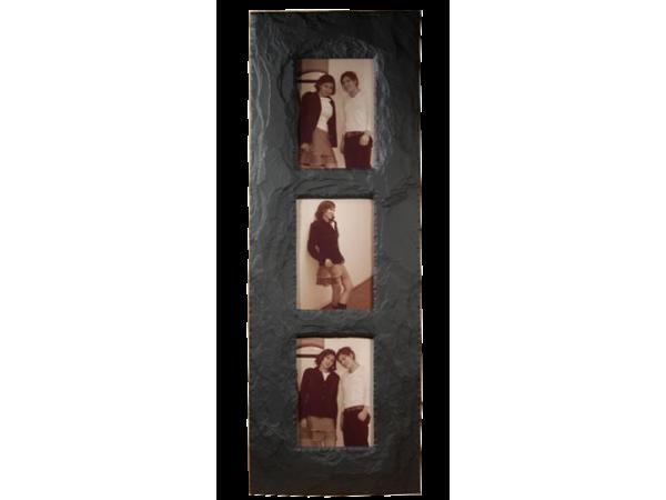 "Slate Triple Photo Frame 7""x 5"" Portrait in Portrait"