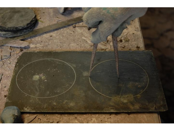 working-on-a-slate-clock