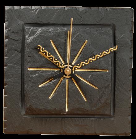 5 inch slate  square clock
