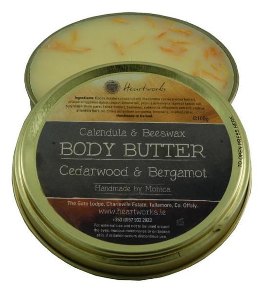 body butter cedarwood bergamot (for men)