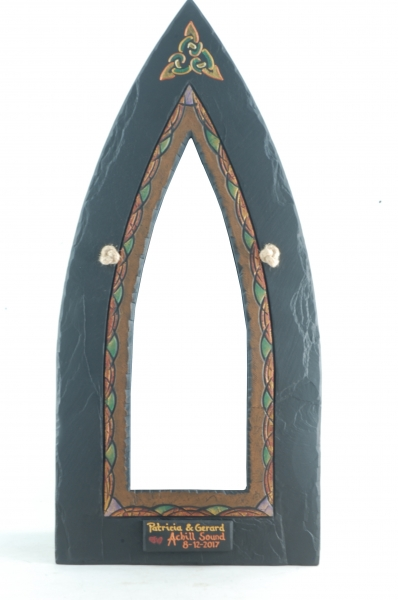 celtic gothic mirror with celtic motif.