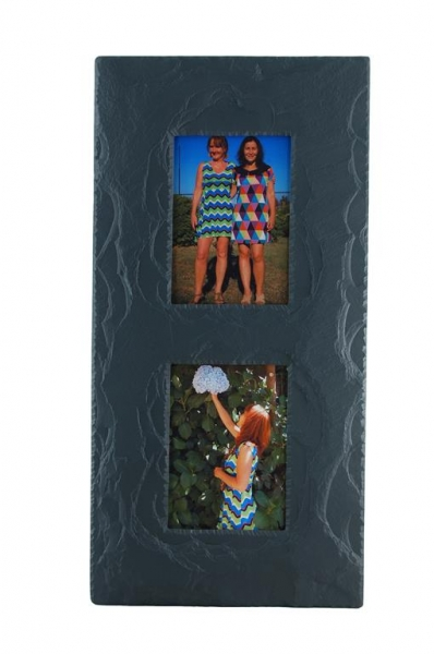 double picture frame in portrait