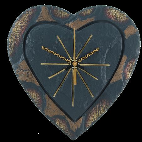 heart-shaped clock