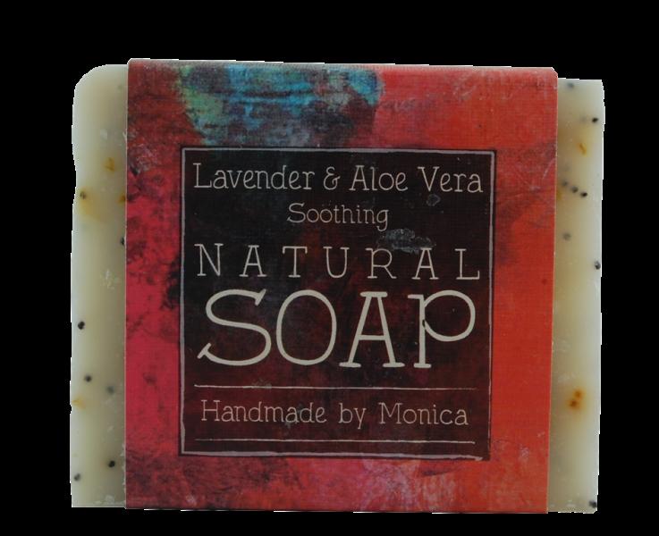 lavender and aloe gel natural handmade soap