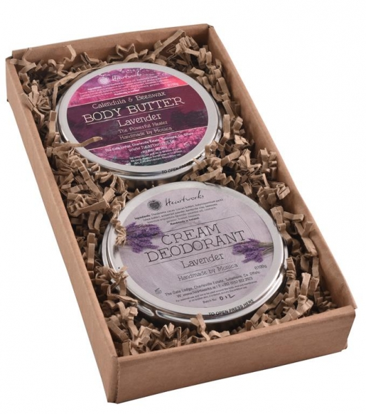 gift set of lavender body butter and cream deodorant