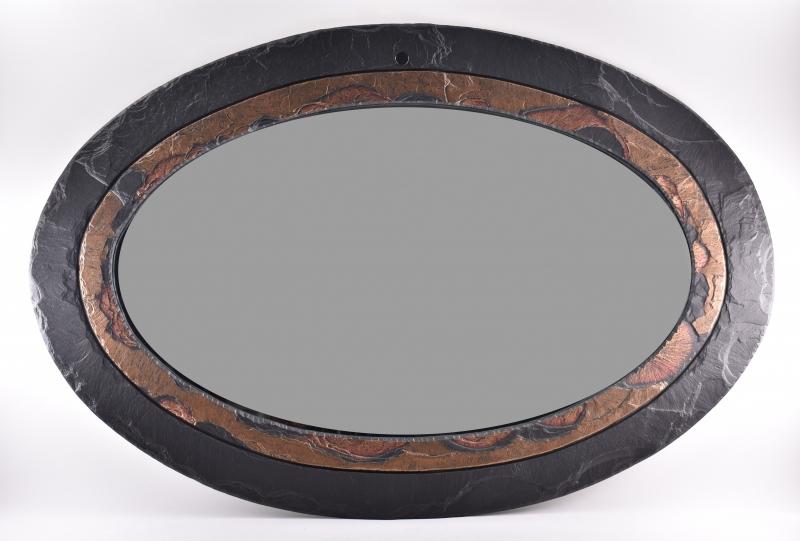 Oval Mirror slate