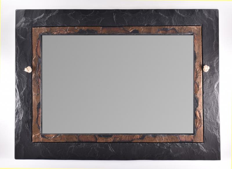 Mirror overmantel slate rectangular