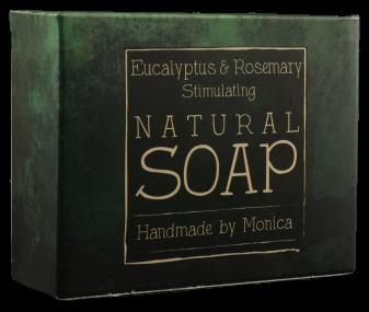Natural handmade soap eucalyptus and rosemary