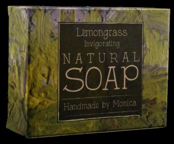Natural handmade soap lemongrass.