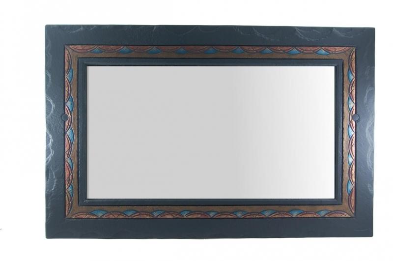 ornate overmantel mirror.