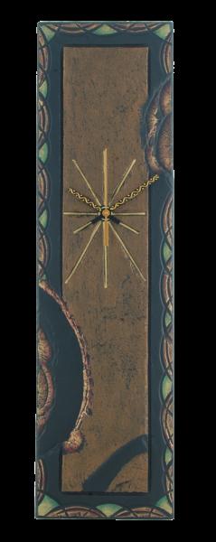 rectangular clock celtic border green