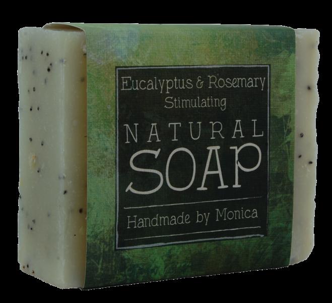 rosemary and eucalyptus handmade natural soap