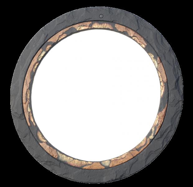 round mirror gold edge