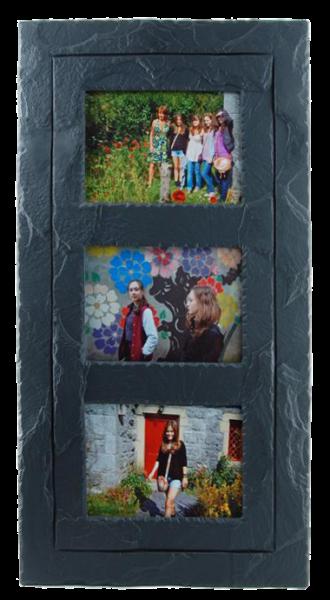Slate picture frame triple