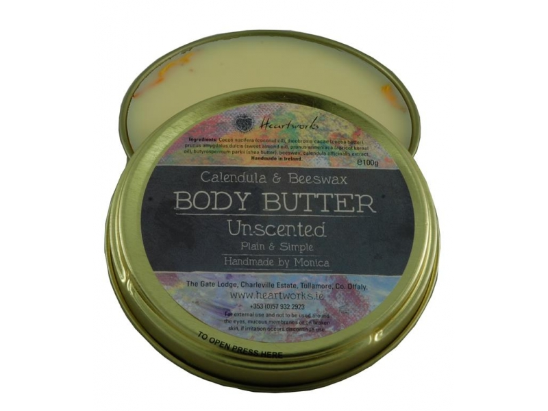 Calendula and beeswax body butter unscented.