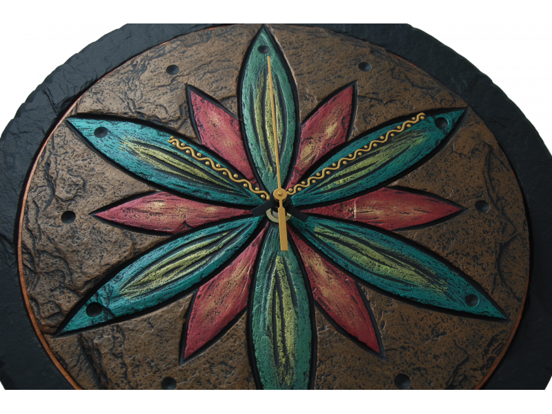 clock-with-flower