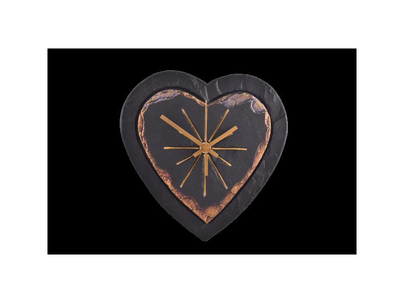 Heart-shaped slate clock