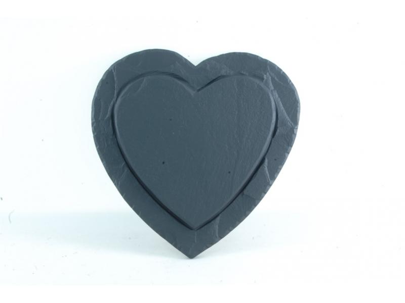 Heart shaped slate decoration