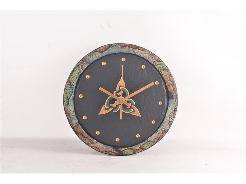 Slate clock with celtic motif