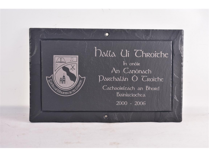 inscriptions in Irish on Slate