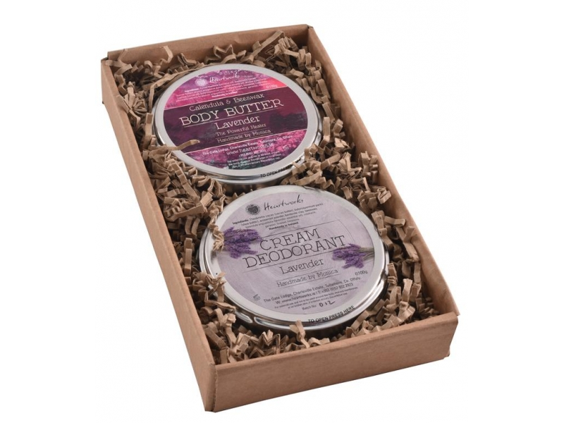 Lavender body butter and cream deodorant set