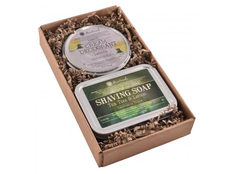 Natural Aluminum Free Deodorant and Luxury Shaving Soap