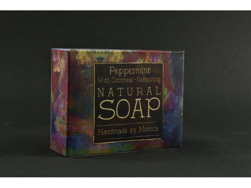 Natural Handmade Soap Peppermint with Cornmeal