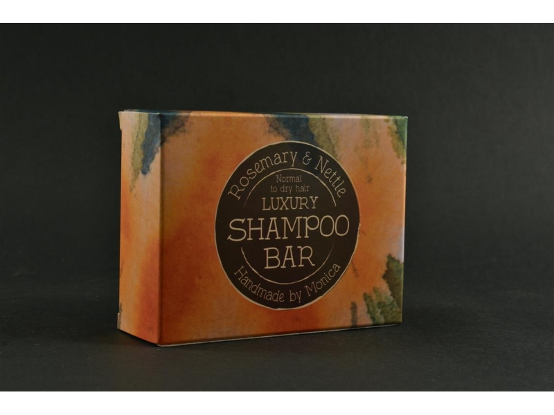 Natural Shampoo Bar Rosemary n Nettle for Normal to Dry Hair.